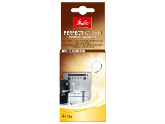 Очищающие таблетки Melitta для автоматических кофемашин 4х1.8 гр 178599 хлоритекс таблетки 20 гр 0 8 кг