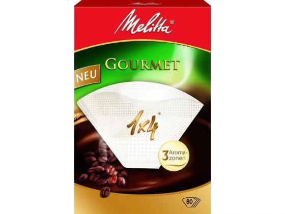 Фильтры бумажные Melitta Gourmet коричневый 1х4/80шт стоимость