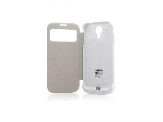 Чехол с аккумулятором Gmini mPower Case MPCS45F White для Galaxy S4 4500mAh Flip cover gmini mpower case mpcs45f white чехол аккумулятор