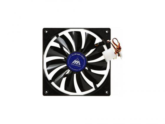 Вентилятор Glacialtech IceWind 14025 140mm 25.6dB 3pin+4pin molex 250g OEM вентилятор glacialtech igloo a330 pwm soc amd 4pin 15 38db al 95w 220g скоба bulk