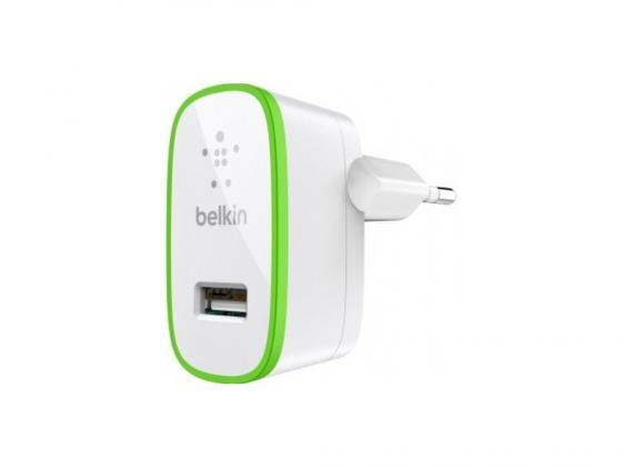 Сетевое зарядное устройство Belkin F8J052CWWHT 2.1A USB белый сетевое зарядное устройство belkin f8z884cw04 usb кабель 30pin