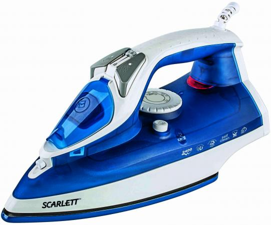 все цены на  Утюг Scarlett SC-SI30E01 2400Вт синий  онлайн