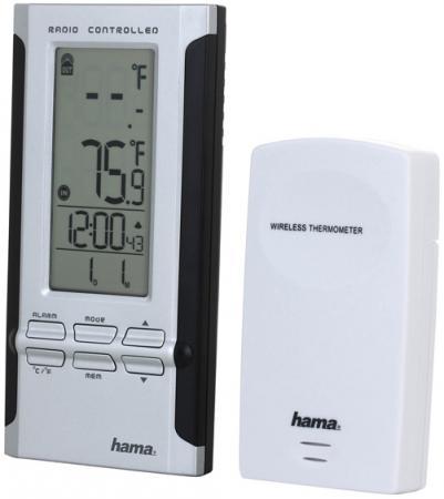 Метеостанция Hama H-104930 EWS-180 черный-серебристый