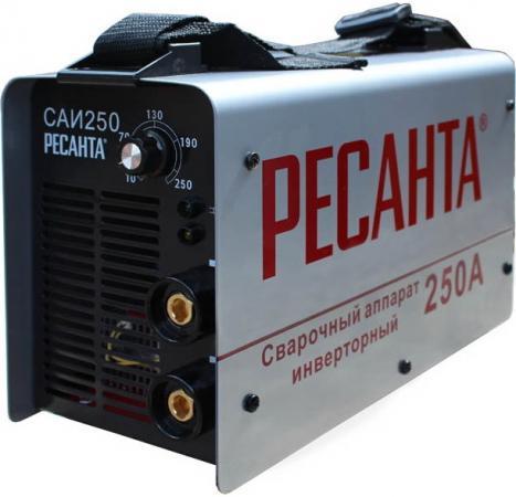 Аппарат сварочный Ресанта САИ 250 инверторный 65/6 сварочный аппарат интерскол иса 250 10 6
