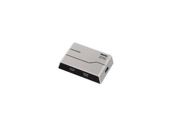 купить Концентратор USB 3.0 HAMA H-39879 — серебристый черный по цене 1360 рублей