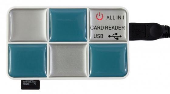 Картридер внешний PC Pet CR-217CBL 24-in-1 USB2.0 ext CF/SD/microSD/MMC/RS-MMC/MS/MSduo/XD/microMS голубой картридер внешний transcend ts rdp8k cf mmc sd sdhc microsdhc msduo msmicro черный
