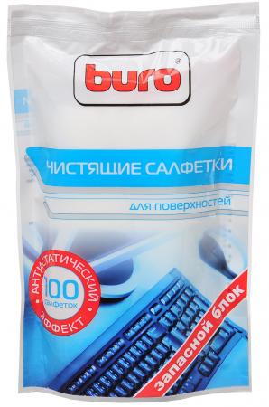 Чистящие салфетки BURO BU-Zsurface 100 шт влажные салфетки buro bu zsurface
