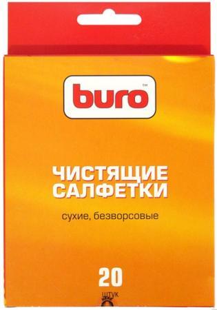Чистящие салфетки BURO BU-UDRY 20 шт салфетки чистящие для экранов buro bu tscrl