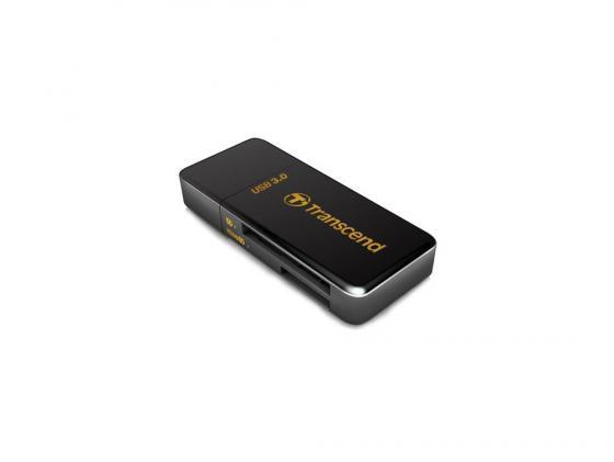 Картридер внешний Transcend TS-RDF5K USB3.0 SDXC/SDHC/SD/microSDXC/microSDHC/microSD черный картридер внешний hama h 39871 usb 3 0 usb 2 0 поддерживает sd sdhc sdxc microsd microsdhc microsdxc черный