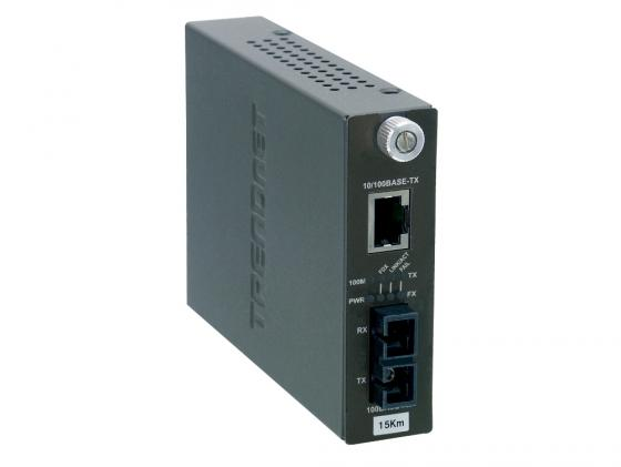 Медиаконвертер TRENDnet TFC-110S15i 100Base-FX SC до 15км Ethernet 100Base-TX маршрутизатор trendnet tew 680mb