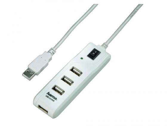 Концентратор USB 2.0 HAMA 00054591 4 x USB 2.0 белый от Just.ru