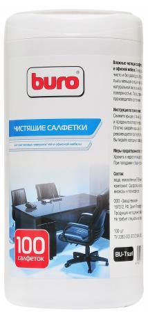 Влажные салфетки BURO BU-Tsurl 100 шт влажные салфетки buro bu zsurface