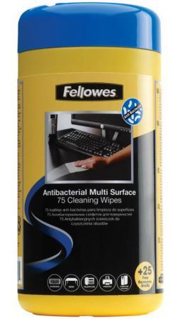 Влажные салфетки Fellowes FS-22109 100 шт fellowes fs 99715 салфетки для любых поверхностей 100 шт