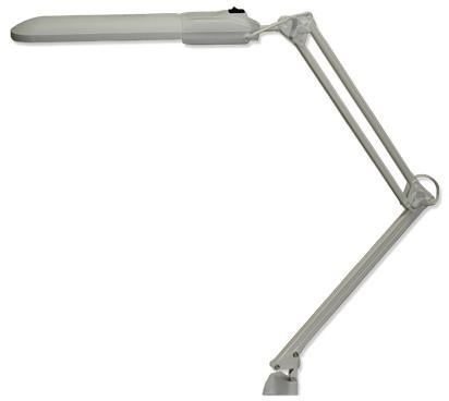 Настольная лампа Трансвит Дельта серый 2G7 11 Вт струбцина FSD-11/40/1B-E-2G7 цена