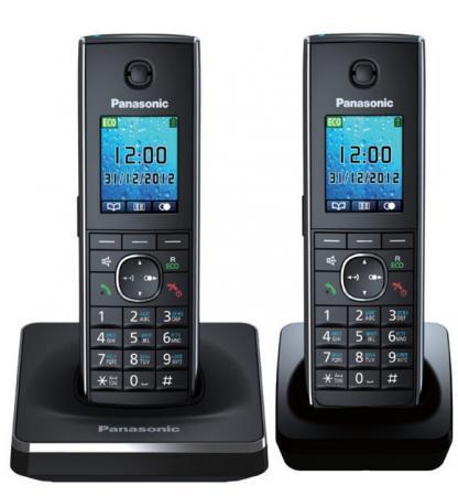 Радиотелефон DECT Panasonic KX-TG8552RUB черный радиотелефон dect panasonic kx tgh212rub дополнительная трубка kx tgha20 черный