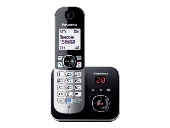 Радиотелефон DECT Panasonic KX-TG6821RUM серый металлик радиотелефон