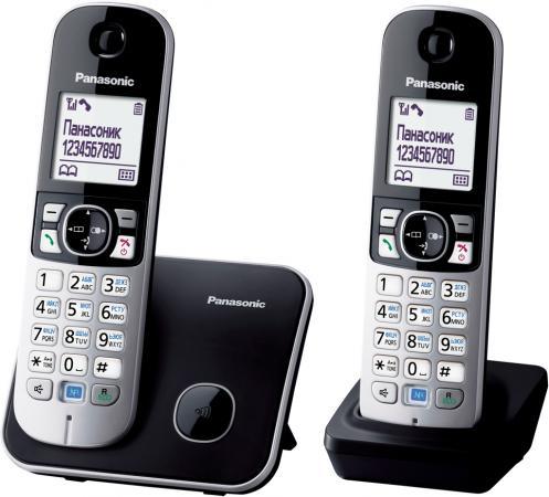 Радиотелефон DECT Panasonic KX-TG6812RUB черный радиотелефон panasonic kx prx120ruw черный