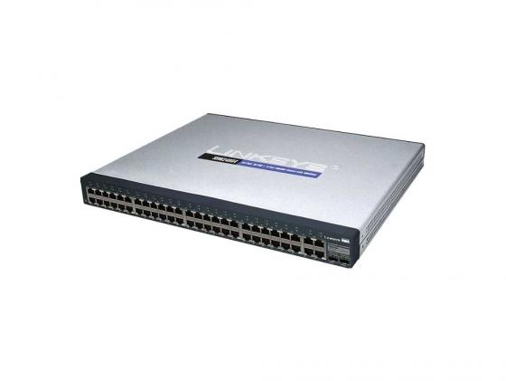 цена на Коммутатор Cisco SF300-48 управляемый 48 портов 10/100Mbps 2x10/100/1000Mbps uplink 2xcombo GbLAN/SFP SRW248G4-K9-EU
