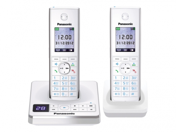 Радиотелефон DECT Panasonic KX-TG8562RUW белый радиотелефон panasonic kx tg8551 белый kx tg8551ruw