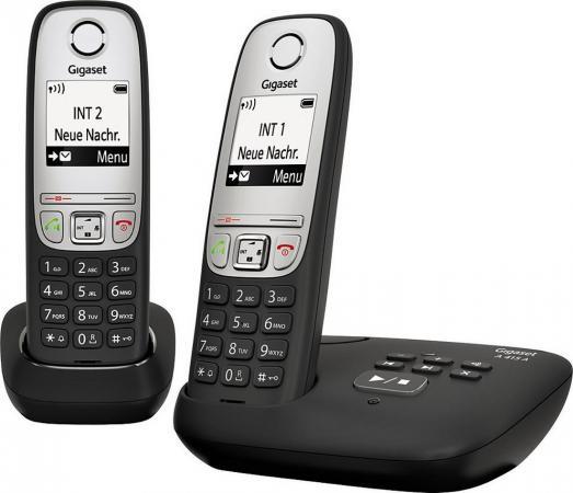 Радиотелефон DECT Gigaset A415 A DUO черный цена и фото