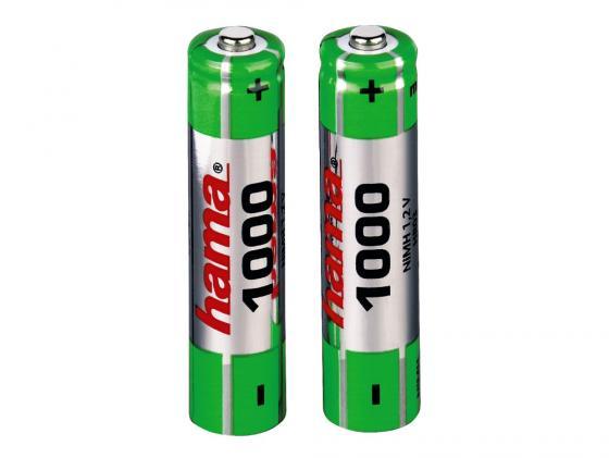 Аккумулятор 1000 мАч Hama H-87055 AAA 2 шт аккумулятор эра eco energy тип aaa hr03 2bl 1000 мач 2 шт