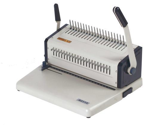 Переплетчик Office Kit B2115 A4/перф.15л.сшив./макс.500л./пластик.пруж. (6-51мм) переплетчик office kit b2112