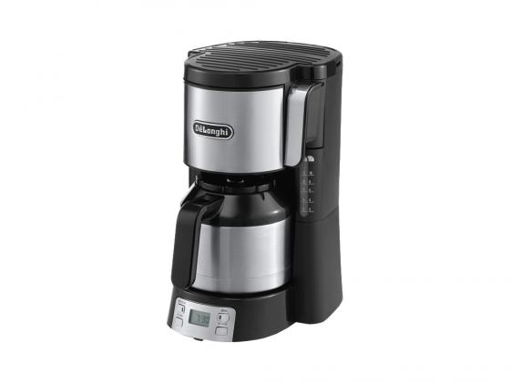 Кофеварка Delonghi ICM 15750 капельная 1000Вт черный кофеварка moulinex fg360830 капельная 1000вт 1 25л черный