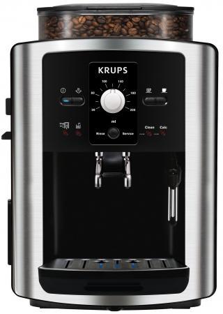 Кофемашина Krups Espresseria Automatic EA8010PE .8л серебристый/черный