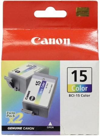 Фото - Картридж Canon BCI-15 для BJ-I70/80 цветной 8191A002 двойная упаковка сумка для видеокамеры 100% dslr canon nikon sony pentax slr