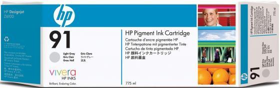 Картридж HP 91 C9467A Pigment для DJ Z6100 голубой 775мл картридж hp c9484a для dj z6100 пурпурный 3шт