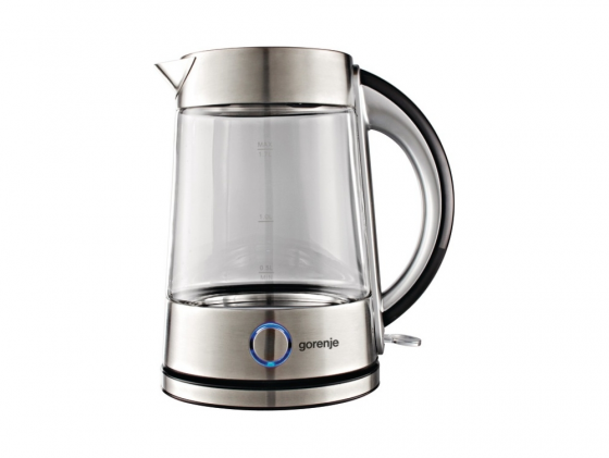 Чайник Gorenje K17G 2200Вт 1.7л металл стекло серебристый