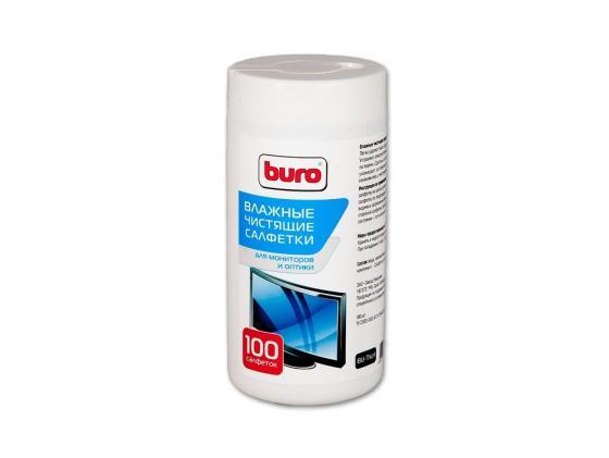 Влажные салфетки BURO BU-TSCRL 100 шт 98235 цена в Москве и Питере