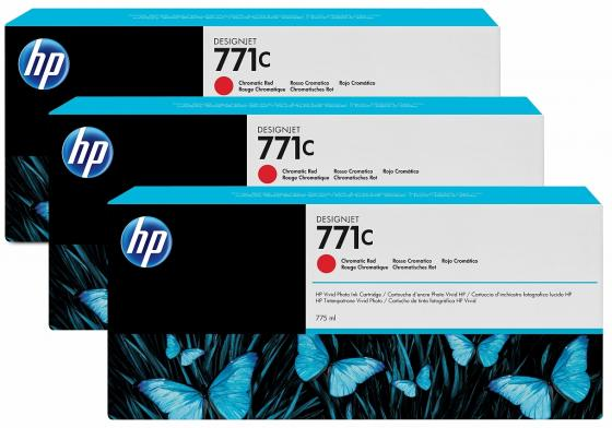 Картридж HP B6Y32A №711С для HP Designjet Z6200 775мл хроматический красный 3шт hot sales 80 printhead for hp80 print head hp for designjet 1000 1000plus 1050 1055 printer