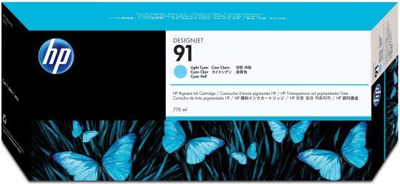 Картридж HP C9470A №91 для HP DJ Z6100 светло-голубой картридж hp c9468a 91 для hp dj z6100 пурпурный