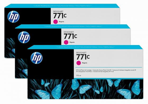 Картридж HP №771C B6Y33A для HP Designjet Z6200 775 мл пурпурный 3шт hp designjet t830 36 f9a30a