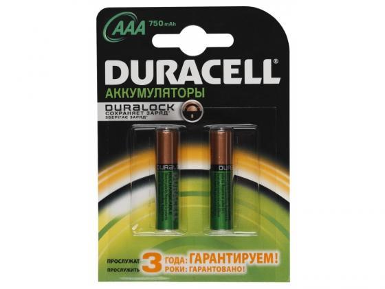 Аккумулятор 750 mAh Duracell HR03-2BL AAA 2 шт зарядное устройство аккумуляторы duracell cef14 2 х aa2500 mah 2 х aaa850 mah