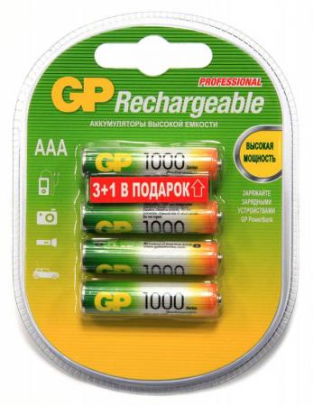 Аккумулятор 1000 мАч GP 100AAAHC3/1-2CR4 AAA 4 шт 100 1000 3 100