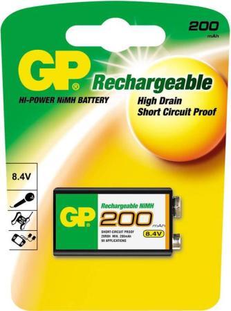 цена на Аккумулятор 200 mAh GP 20R8H-BC1 6F22 1 шт