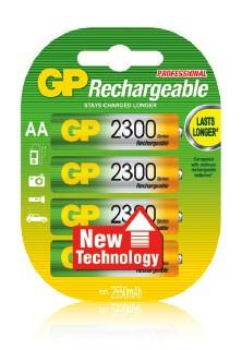 цена на Аккумулятор 2300 mAh GP 230AAHC-2CR4 AA 4 шт