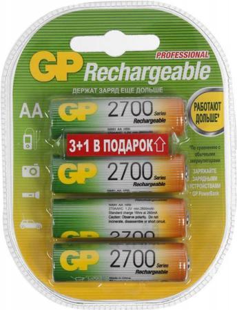 Аккумуляторы 2700 mAh GP 270AAHC3/1-2CR4 AA 4 шт аккумуляторы hr6 aa gp 270aahc3 1 2cr4 2700mah 3 1шт