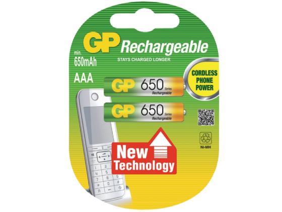 Аккумулятор 650 mAh GP 65AAAHC-2CPCR2 AAA 2 шт аккумулятор gp 40aaahcsv 400 mah aaa 2 шт