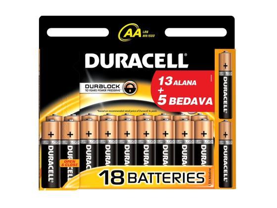 Батарейки Duracell Basic AA 18 шт батарейки duracell аа lr6 2bl basic cn 2 шт
