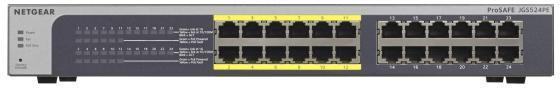 Коммутатор Netgear JGS524PE-100EUS управляемый 24 порта 10/100/1000Mbps PoE