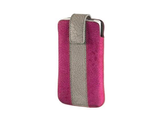 купить Чехол Hama Chic Case универсальный застежка замша/кожа розовый/серый H-109344 недорого