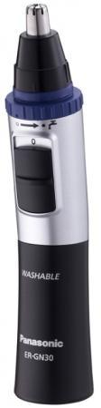 Триммер Panasonic ER-GN30-K520 чёрный серебристый триммер panasonic er gn30 k520 для носа и ушей