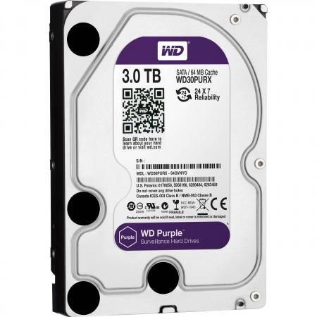 Жесткий диск 3.5 3Tb 64Mb cache Western Digital Purple SATAIII WD30PURX жесткий диск 3 5 8 tb 5400rpm 128mb cache western digital purple sataiii wd80purz