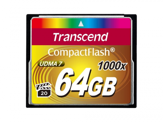 Карта памяти Compact Flash Card 64GB Transcend 1000x TS64GCF1000
