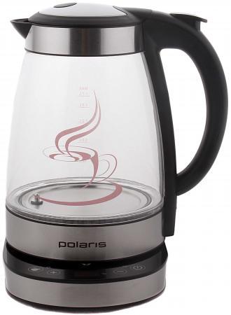 Чайник Polaris PWK 1714CGLD 2000Вт 1.7л сталь стекло черный чайник polaris pwk 1765car 2200вт 1 7л металл черный серебристый