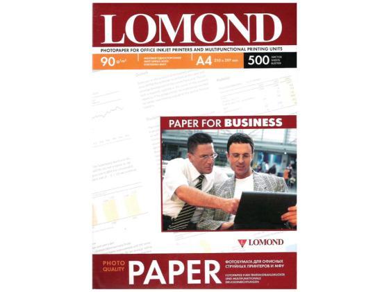 Фото - Бумага Lomond A4 90г/м2 500л матовая для струйной печати 0102131 холст lomond a4 300г м2 10л для водных чернил льняная матовая 0908411