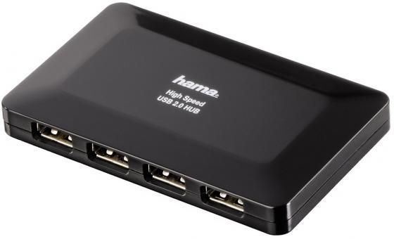 Концентратор USB 2.0 HAMA H-78472 4 x USB 2.0 черный usb хаб hama 78472
